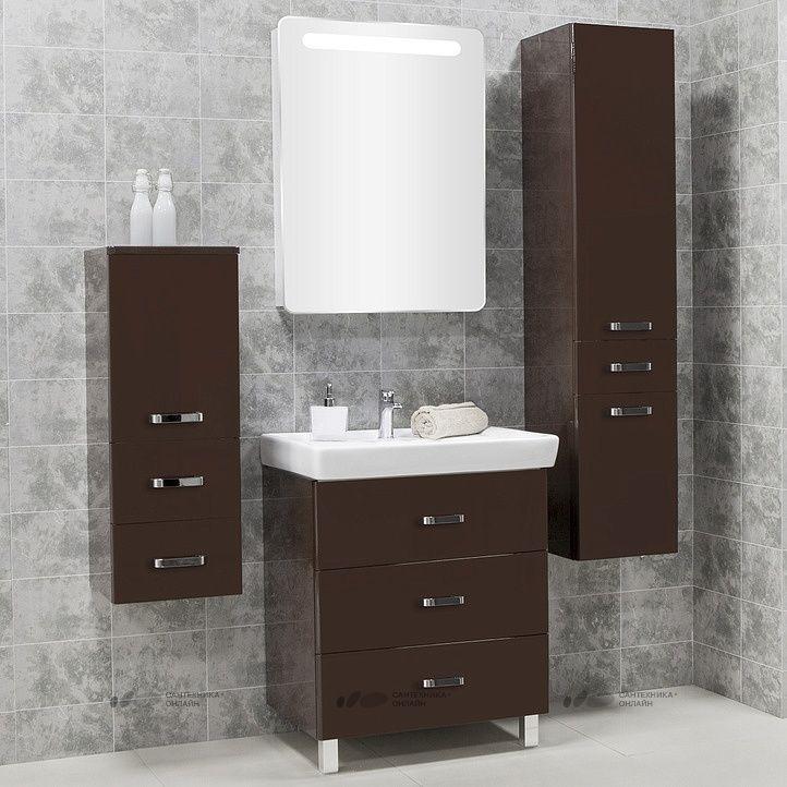 Мебель для ванной Акватон Америна М 70 темно-коричневая купить в магазине Сантехника-онлайн.Ру