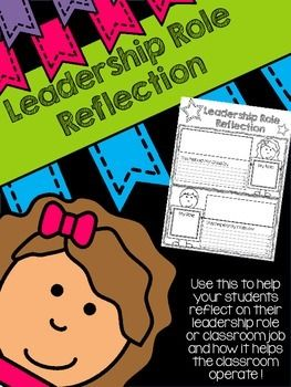 Leadership Role Reflection  Perfect sheet for students to track their leadership roles for their leadership notebooks! Free!