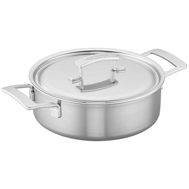 DEMEYERE INDUSTRY 5-PLY 4-QUART STAINLESS STEEL DEEP SAUTE PAN