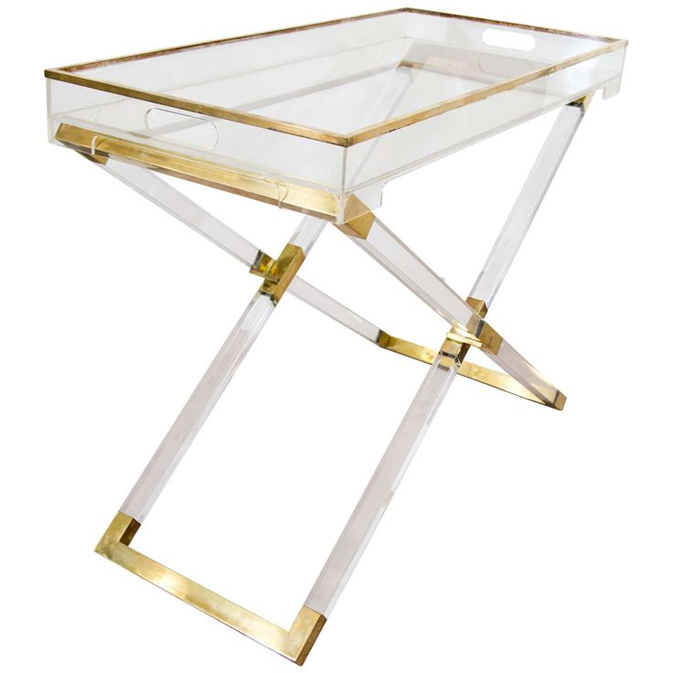 Midcentury Folding Tray Table or Bar Console Attributed to Philippe Cheverny | Francy - 1970s