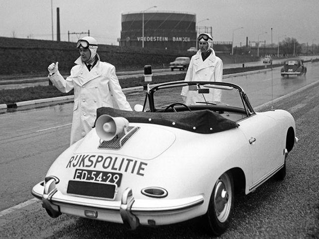 Dutch (not Deutsch as in German) police drove around in Porsches in the sixties and seventies