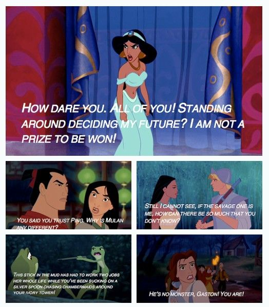 Disney princesses who stood up for themselves.