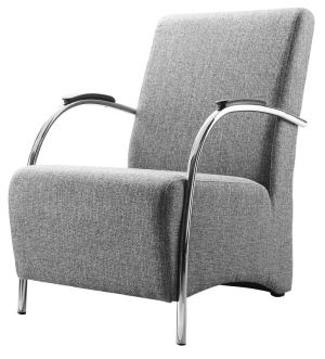 Fauteuil Brino. Stijlvolle fauteuil met een moderne vormgeving en prachtige belijning.  Mooi en praktisch en met een uitstekend zitcomfort. Optioneel ook  verkrijgbaar met een RVS-look of mat zwart frame. En natuurlijk in heel  veel kleuren stof, lederlook en leder.