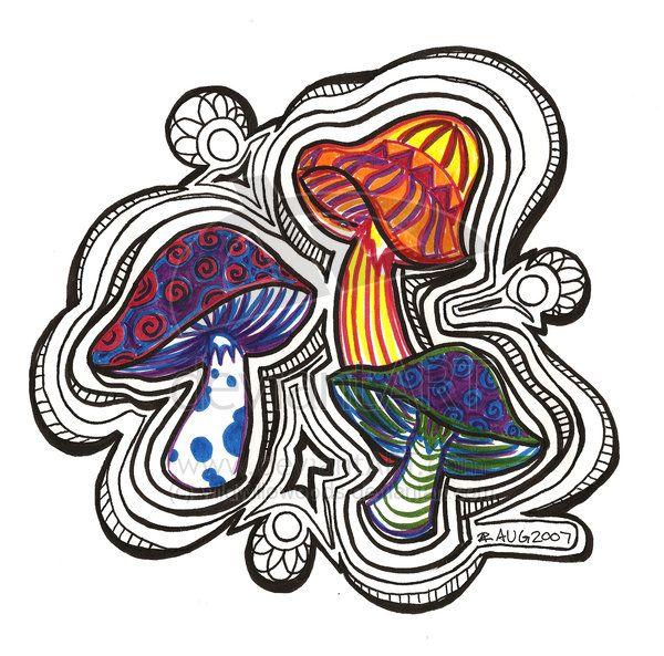 ideas for drawing mushrooms   mushroom art   Pinterest ...