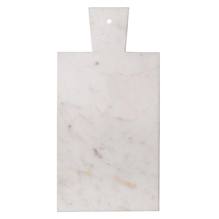 Skärbräde marmor m trähandtag