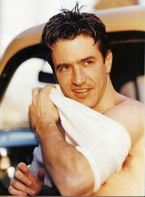 Dermot Mulroney. I think its his lips that i find so attractive. I like his scar…