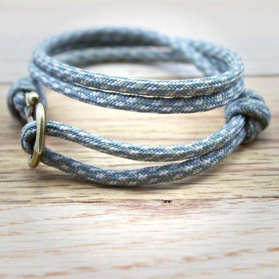 Ancoraggio Paracord bracciale nautico in grigio di DesignedTurning