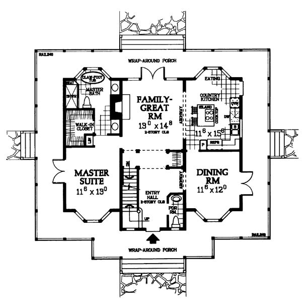 Victorian Cottage Plans First Floor Plan Of Cottage Country Victorian House Plan