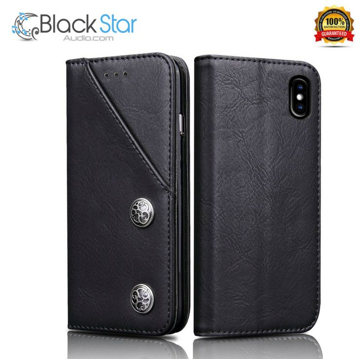 iPhone X Wallet Leather Case,FOGEEK Vintage Premium PU Leather Case Book Design  #Fogeek