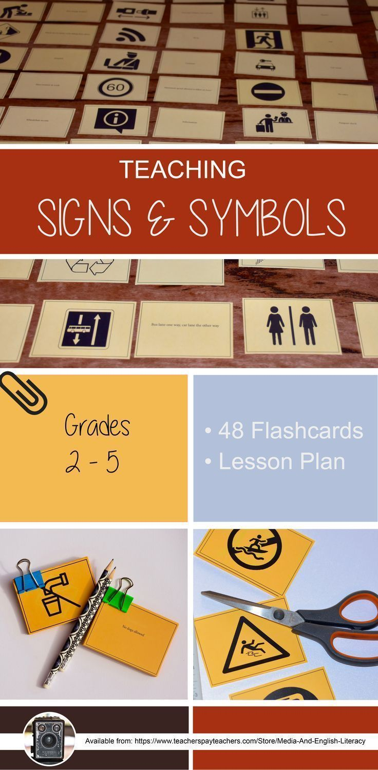 A fun Media Arts interactive flashcard game to help students experiment with familiar and unfamiliar signs and symbols. There are 48 flashcards and a comprehensive lesson plan for you to teach signs and symbols to students in grades 2-5. https://www.teach