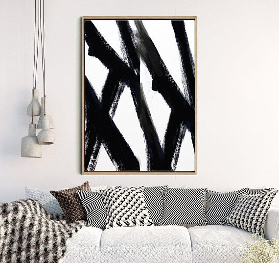 Lounge Prints, Abstract Poster, Large Wall art, Abstract Print, Black Abstract Art, Home Decor, Wall Decor, Instant Download