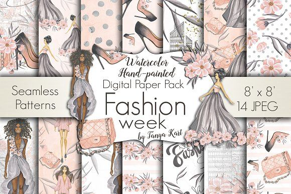 Fashion Week Design Kit by Tanya Kart on @creativemarket