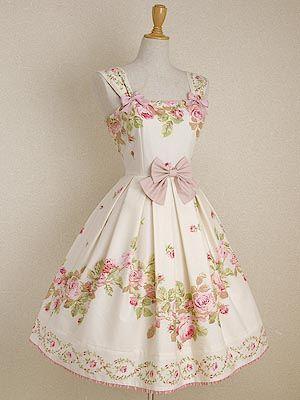 gorgeous feminine dress with rose pattern