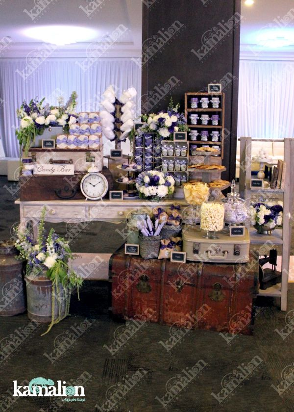 Mesa de dulces candy bar lila - Baul decoracion ...