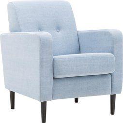 SALE   Nu slechts 299,- ! Geef je zithoek een frisse beachlook met fauteuil Hipp in prachtig lichtblauw.