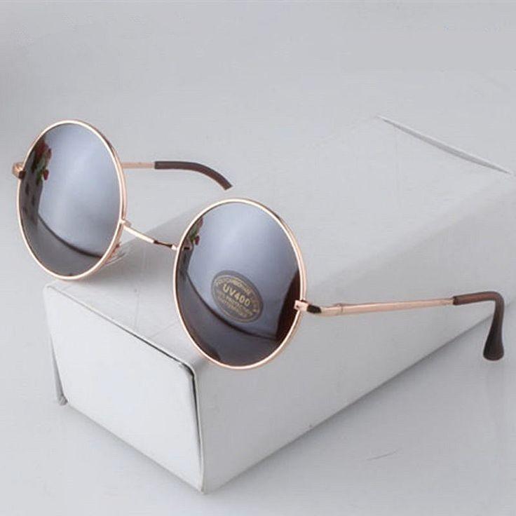 Fashion Round Sunglasses Men Women Vintage Circle Male Female Gold Sun Glasses For Women Men Brand Designer Mirror Goggles