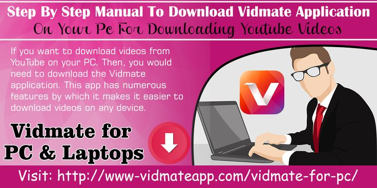 If you want to download videos from YouTube on your PC. Then, you would need to download the Vidmate application. This app has numerous features by which it makes it easier to download videos on any device. Website : http://www-vidmateapp.com/vidmate-for-pc/