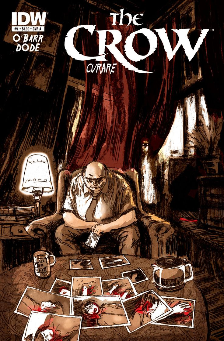 The Crow returns with creator James O'Barr in Curare, coming this June from IDW Publishing.