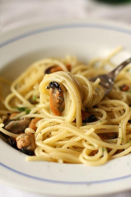 spaghetti e cozze - moscioli