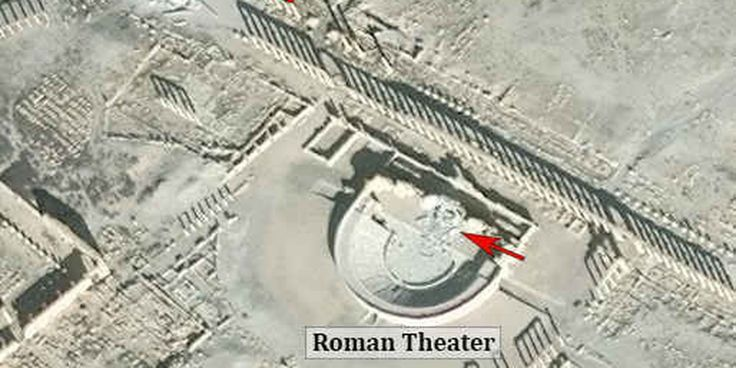 "ISIS Damages Iconic Theater and Monument in Ancient Syrian City.  Two of Palmyra's iconic monuments, the Tetrapylon and the Roman theater, have experienced ""significant damage,"" according to reports."