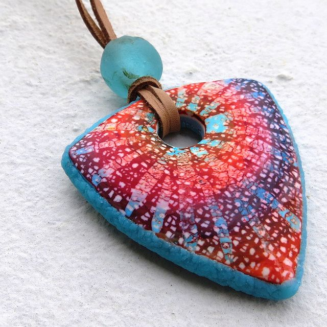 Simple batik pendant, via Flickr. By Saffron Addict