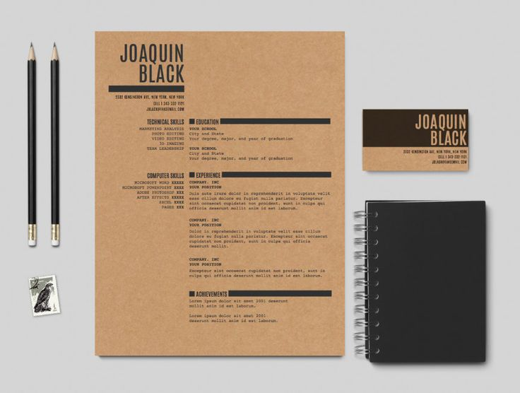 The Black Resume - Customizable resume template by itsprintable on Etsy