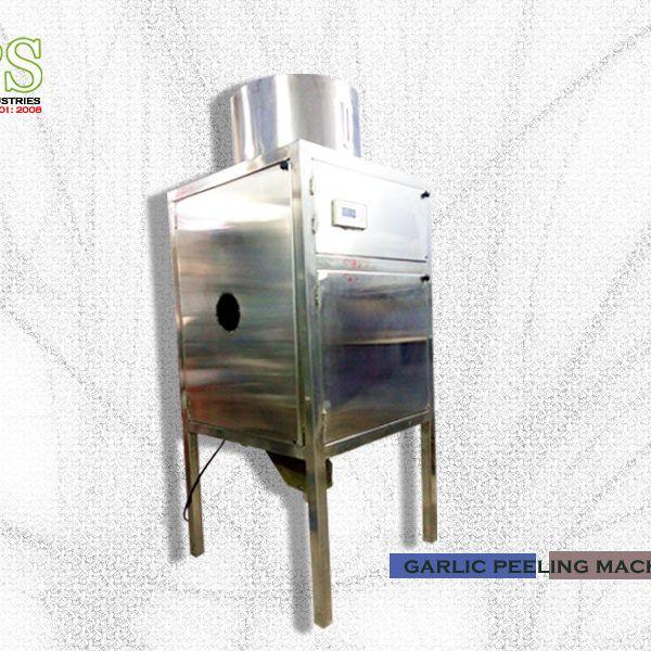 क्षमता: .30kg / घंटा • आयाम: L700 एक्स W700 x H1600 मिमी मोटर बिजली: 4kw • वजन: 155kg • लगभग सामग्री: आंतरिक स्टेनलेस स्टील से बना • शक्ति का स्रोत: 220/380 ACV या अनुसार ग्राहकों की आपूर्ति स्रोत • एयर दबाव की आवश्यकता: 8 से 9 किलो / सीएफएम 45 • कंप्यूटरीकृत नियंत्रण कक्ष • पूरी तरह से स्वचालित सूखी छीलने ऑपरेशन • ऊर्जा की बचत इकाई • स्वत: तापमान नियंत्रण और फ़ीड डिवाइस में • लहसुन लौंग को कोई नुकसान • गारंटी: 1year।  मूल्य-180000