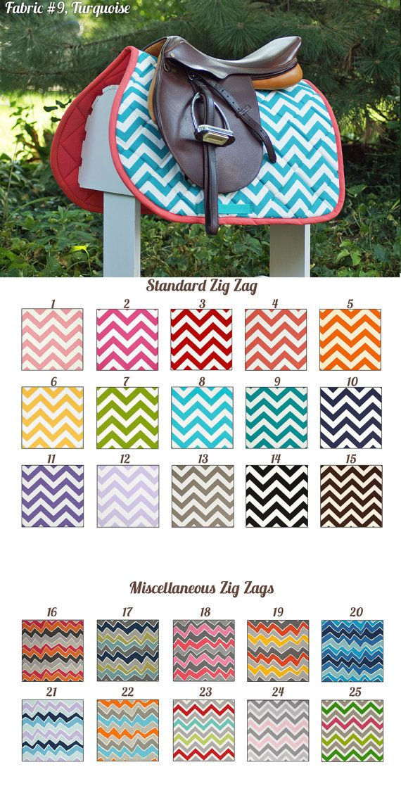 MADE TO ORDER Zig Zag Prints Saddle Pad Many Colors