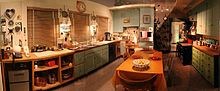 Julia Child's kitchen. In 2001, Child moved to a retirement community, donating her house and office to Smith College, which later sold the house. She donated her kitchen, which her husband designed with high counters to accommodate her height, and which served as the set for three of her television series, to the National Museum of American History, where it is now on display.