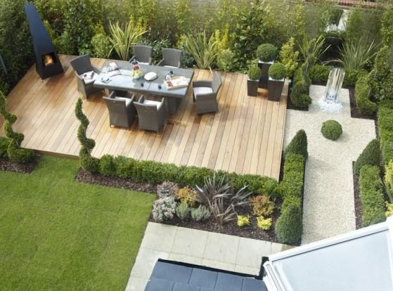create a beautiful decking area for the ultimate alfresco dining experience by framing the area with a selection of topiary plants. To save on-going maintenance why not opt for artificial topiary. View our range here
