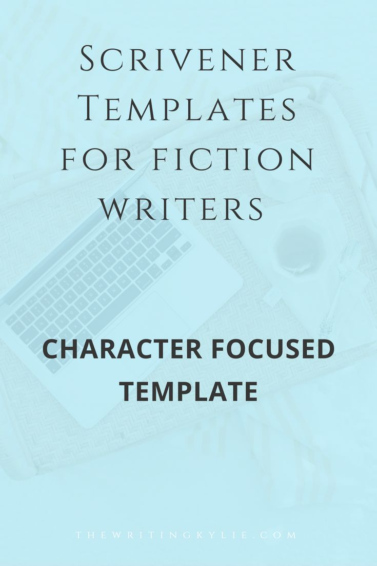 #writingtips Scrivener Template for Fiction Writers: Character Focused Template