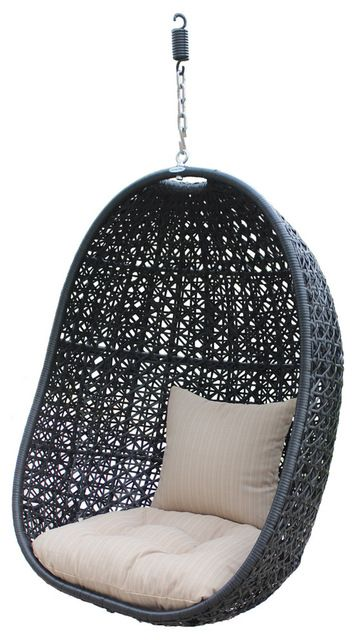 Nimbus Modern Outdoor Hanging Basket Chair With Stone Cushions Chairs 499