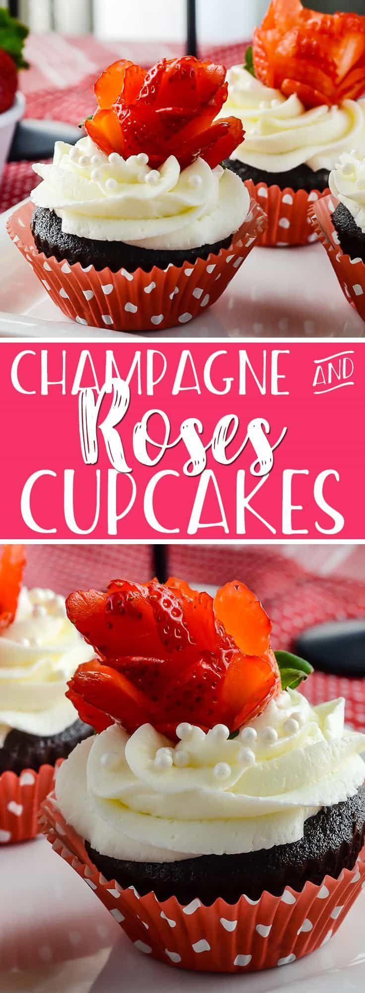 Valentinstag, eingewickelt in ein süßes Dessert: Cupcakes aus dunkler …  – cupcakes