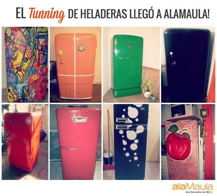 Heladeras muy originales en ➔ www.alamau.la/HeladerasPintadas