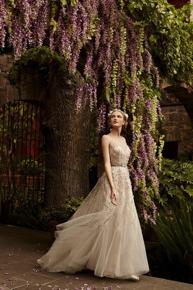 B H L D N Wedding Dresses Spring 2015: The Painted Garden see more at http://www.wantthatwedding.co.uk/2015/01/22/bhldn-2015-wedding-dresses-spring-summer/