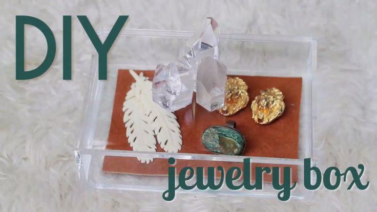 DIY Jewelry Box With Geodes