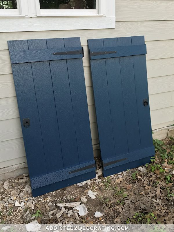 Diy Board And Batten Shutters Decorative Non Functioning