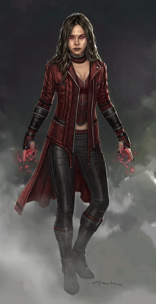 """Here's one more #ScarletWitch design I did. Trying to keep it not so """"costumey"""" with this one. #ElizabethOlsen #kinda"""