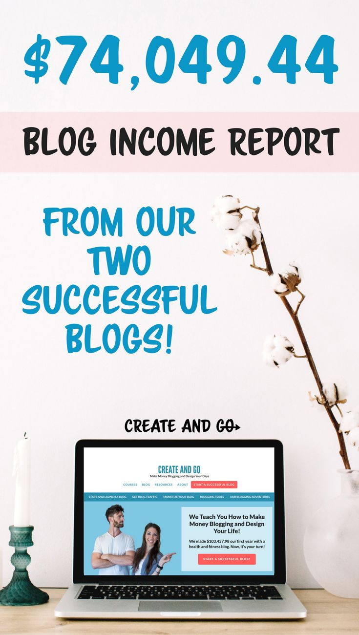 How we use digital products and affiliate marketing to make money blogging - $74,049 from our blog in just one month! #createandgo