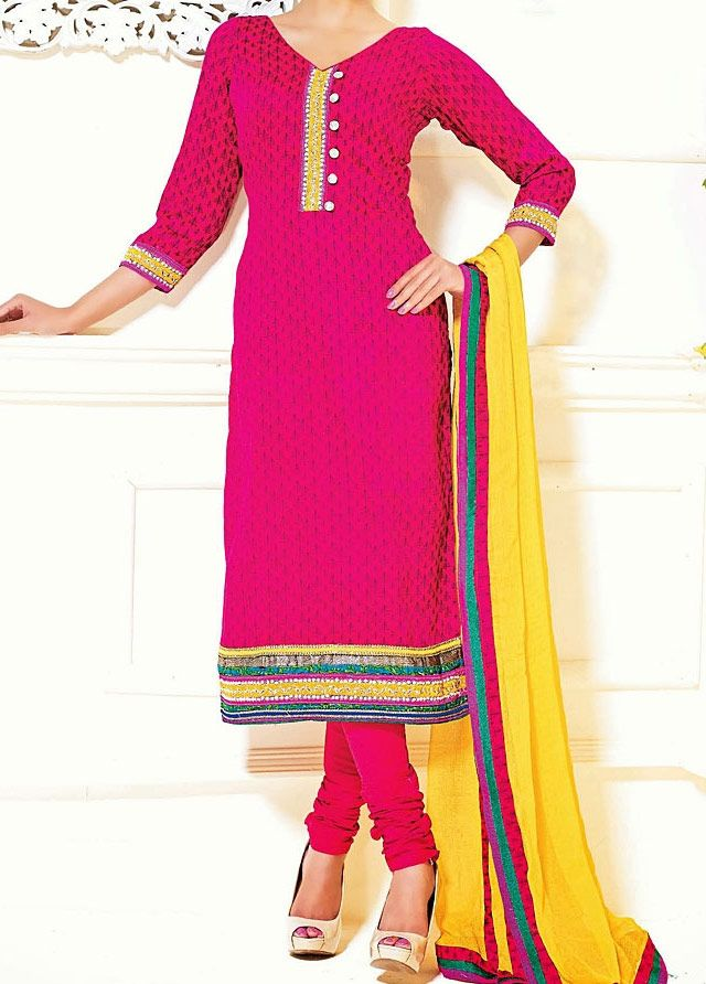 Churidar Salwar Suit Necklike Design
