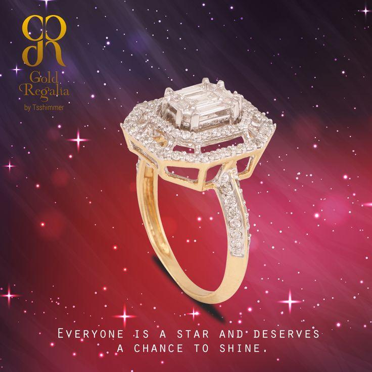 Everyone is a star and deserves a chance to shine.  Sango #DiamondRing by Gold Regalia Visit for more: http://goo.gl/YVbqZa  #WomensJewelry #ClassyJewelry #DiamondJewelry