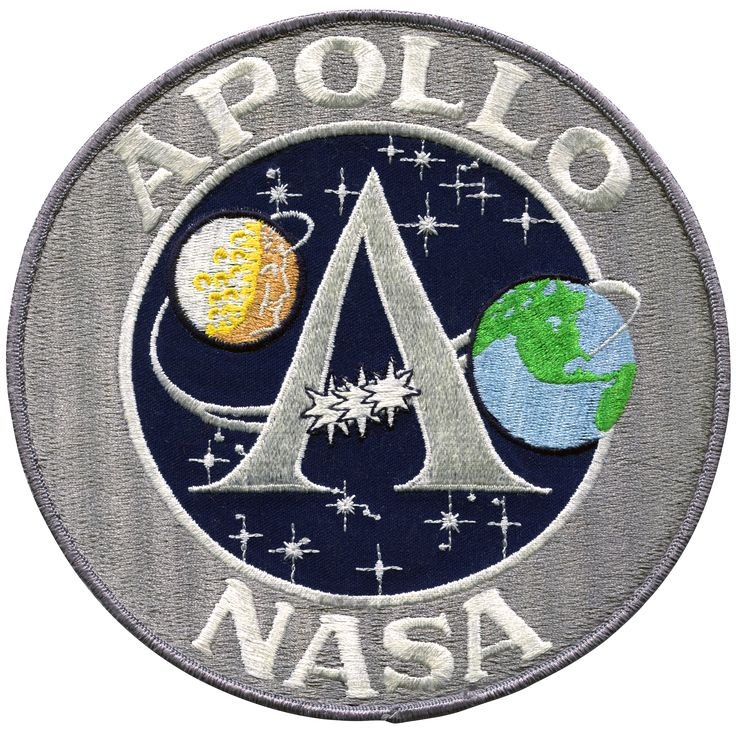 "This is an 8 inch version of the Apollo ""A"" Program patch and is great to frame or put on the back of a jacket."