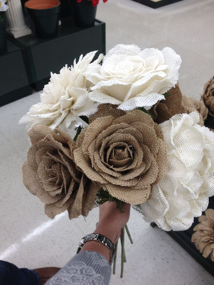 hobby lobby wedding flowers burlap flowers hobby lobby wedding 4823