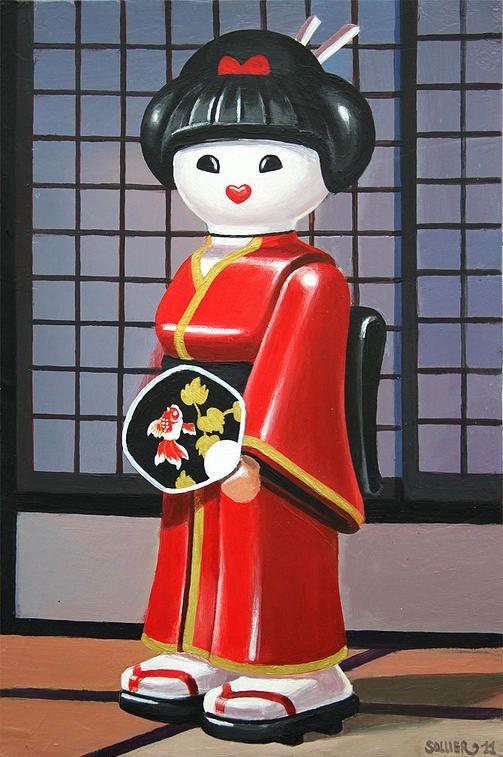 Geisha. 41 x 27 cm.
