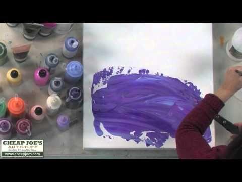▶ Debbie Arnold- Acrylic Texture with Plastic Wrap - YouTube http://www.youtube.com/watch?v=kwoOiGjAZ5s