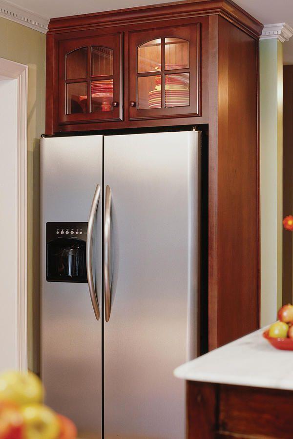 Best 19 Best Refrigerator Cabinet Images On Pinterest Kitchen 640 x 480