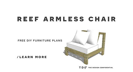 Free DIY Furniture Plans // How to Build an Armless Chair for the Reef Outdoor Sectional Sofa | The Design Confidential