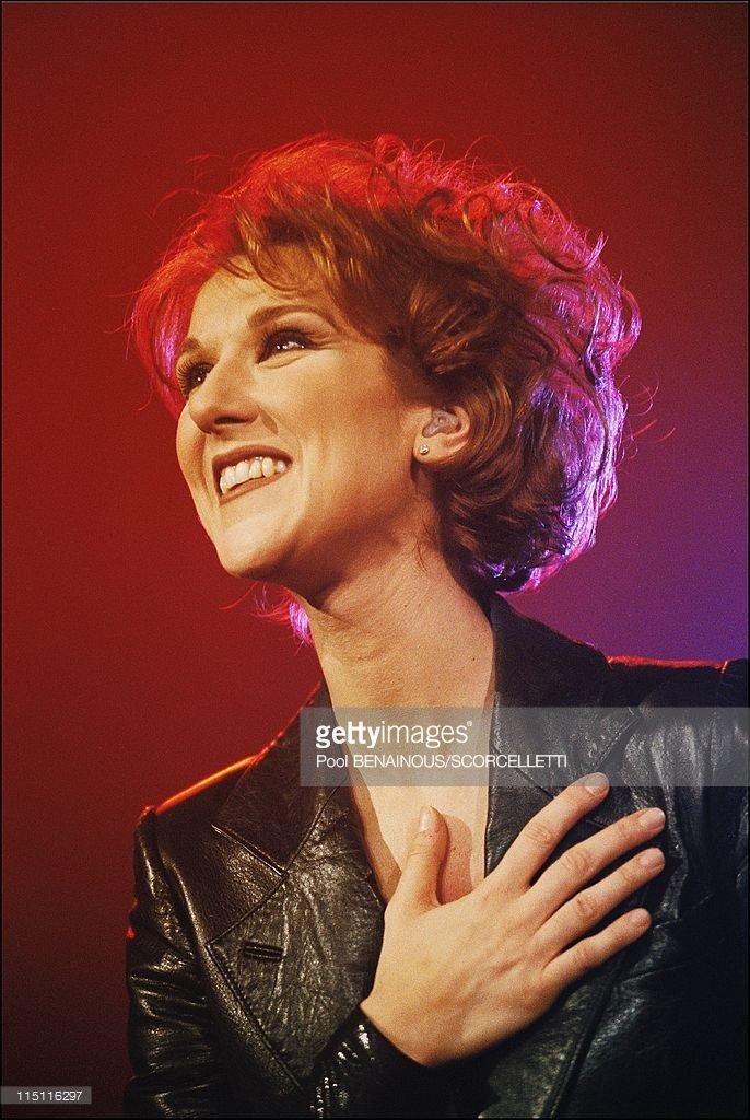 Celine Dion at Bercy concert hall in Bercy in Paris, France in January, 1996.