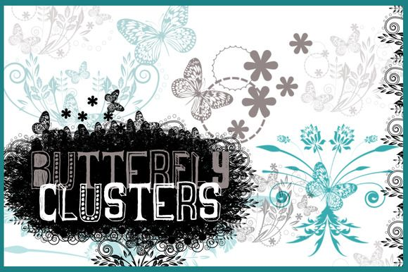 Check out Butterfly Clusters Photoshop Brushes by One8edegree Studios on Creative Market