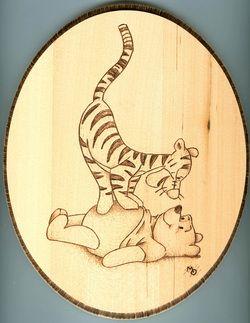 """*Disney's """"Tigger and Pooh bear"""" ~Woodburning"""